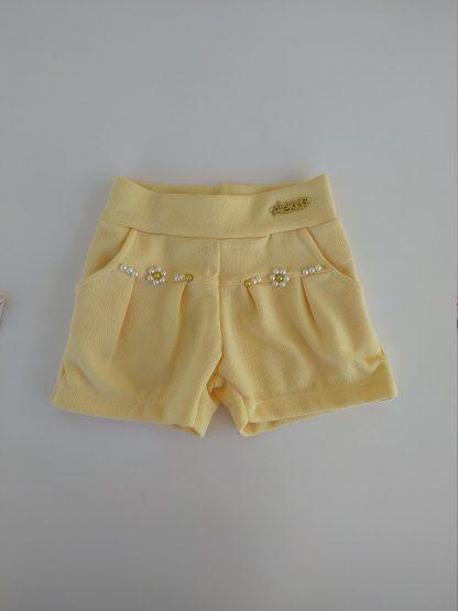 Conjunto Body Floral lotus e Shorts - Rosa/Manteiga