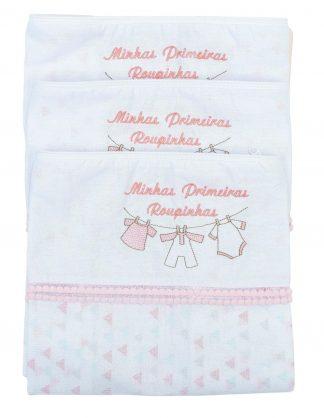 Kit Saquinho Maternidade 3 peças Feminino - Rosa