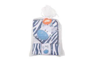 Kit Toalha de Banho 4 Peças Zebra Bebê