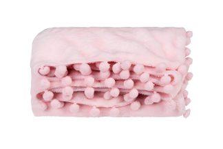 Manta Soft Microfibra Pompons Bebê