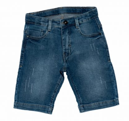 Bermuda Infantil Jeans - Azul - 8