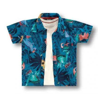 Conjunto Camisa e Regata - Bege - AZ - 8