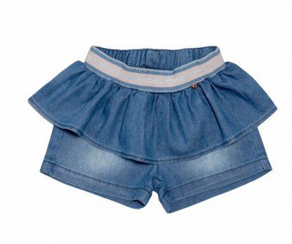 Shorts Peplum Feminino Jeans - Azul