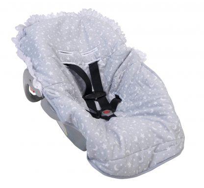 Capa para Bebê Conforto Estampada - Cinza