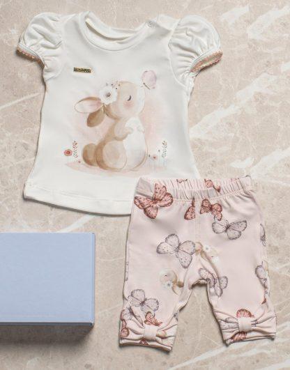 Conjunto Livinha Blusa e Calça Legging - Branco - 3