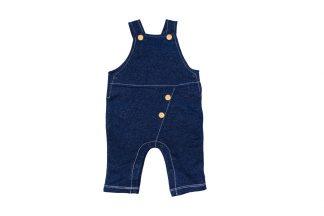 Jardineira Unissex em Moletinho parece Jeans - Azul