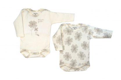 Dupla de Body Longo Suedine Bebê