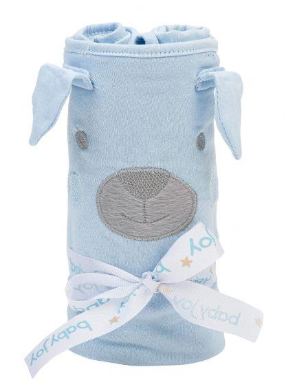 Manta Light Rolinho Essence com Bordado Bebê - Azul - U