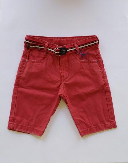 Bermuda Infantil Jeans Casual - Vermelho - 8