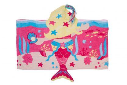Toalha de Banho com Capuz 3D Sereia Menina - RS - U