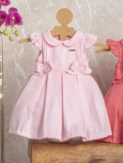 Vestido Festa Perfeito para Aniversário de 1 Ano - Rosa-claro - GG