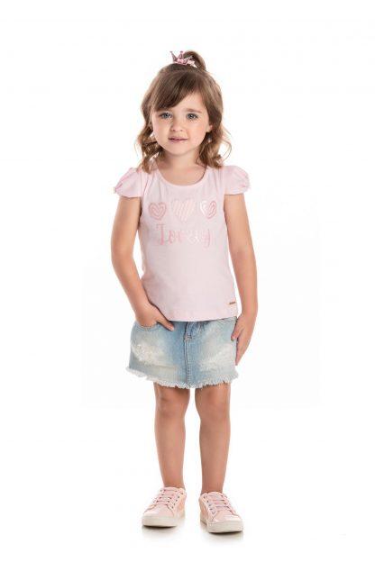 Blusa em Cotton - Rosa
