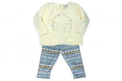 Conjunto Plush Trico Esquilo Menina - Azul - 3
