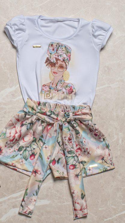 Conjunto Blusa e Shorts Menina