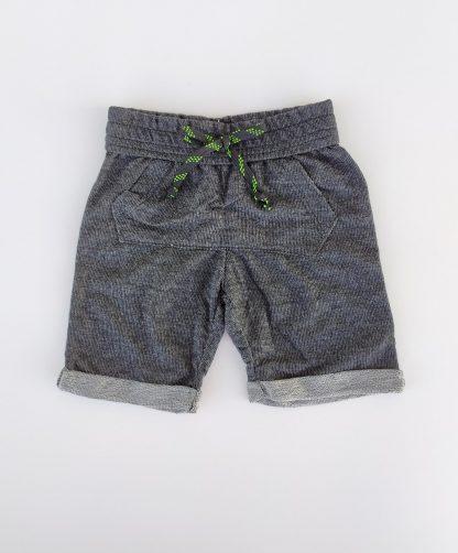 Conjunto Camiseta e Bermuda em moletinho Jeans - Amarelo / Preto
