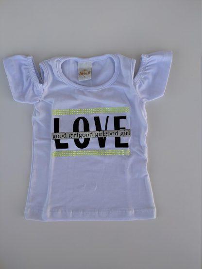 Conjunto blusa em cotton premium e capri em moletinho neon - branco/ amarelo neon