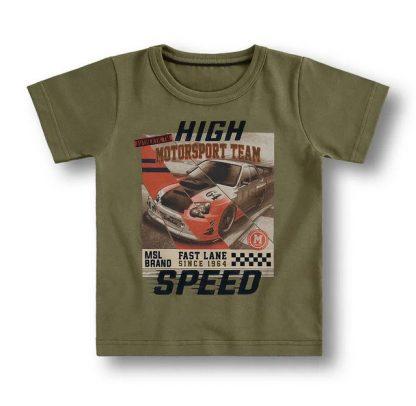 Conjunto Camiseta e Bermuda Menino Carros