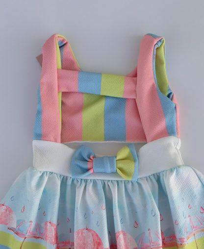 Vestido guarda chuva - azul
