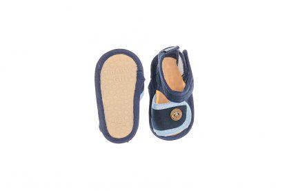 Sandalia com fechamento em velcro - Azul marinho