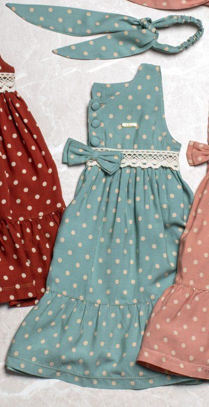 Vestido Maria Eduarda Poa Menina