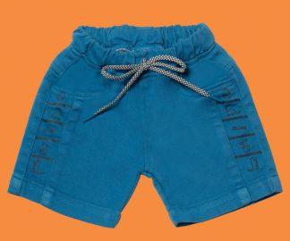 Bermuda Jeans Dino Lateral - Azul