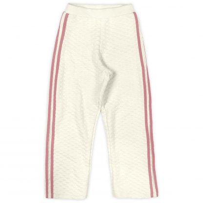 Conjunto Blusão Pelúcia e Calça Pantalona- Branco