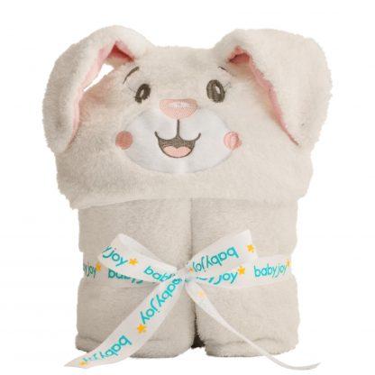 Manta com Capuz Coelhinha Bebê - Branco - U
