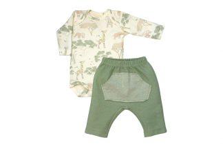 Kit Masculino Body e Calça Suedine Selva - Verde