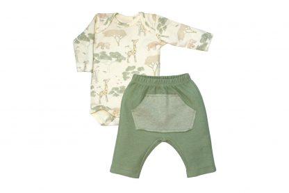 Kit Body e Calça Suedine Selva Menino - Verde - GG