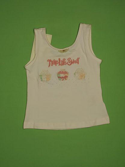 Conjunto Regata e Saia com Shorts em Cotton - Branco/Coral
