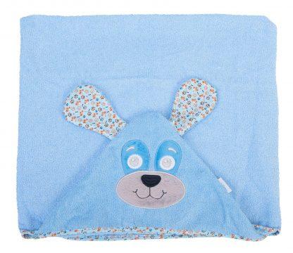 Toalhão com Capuz Cachorro - Azul - AZ - U