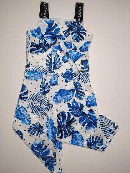 Macacão Pantacourt Menina - Azul - 10