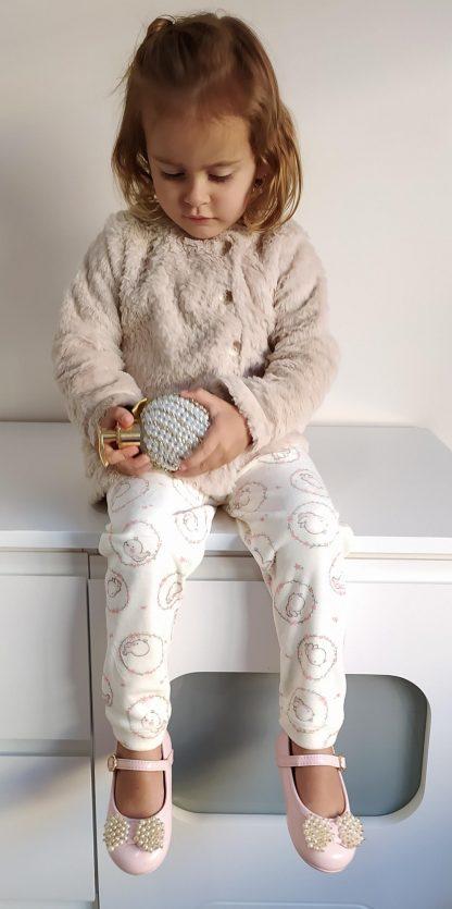 Conjunto Casaco de Pelo e Calça em Plush Menina