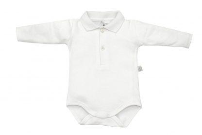 Body Polo Manga Longa Bebê - Branco - 1