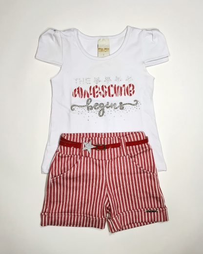 Conjunto Blusa e Short Infantil Menina - VM - 3