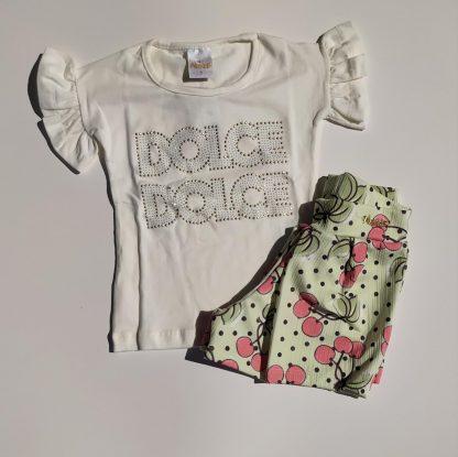 Conjunto Blusa e Shorts Cereja - Vermelho