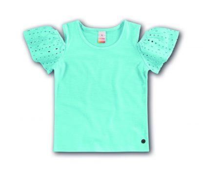 Blusa Infantil Menina - Azul-turquesa - 16