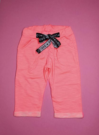 Conjunto blusa em cotton premium e capri em moletinho neon - marfim/ laranja neon