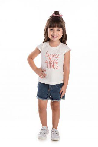 Blusa Infantil Menina - Branco - 3