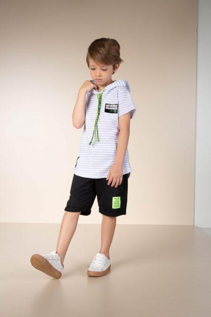 Conjunto Infantil Camiseta e Bermuda Menino - Cinza - 12