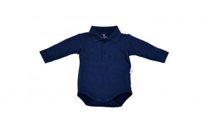 Body Polo Manga Longa Bebê - Azul-marinho - 1