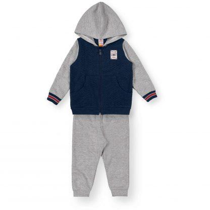 Conjunto Infantil Jaqueta e Calça em Moletom Menino - Azul-marinho - 8