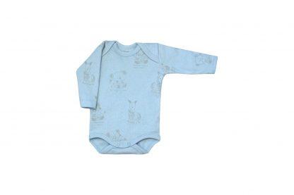Body Manga Longa Bebê - Azul-claro - GG