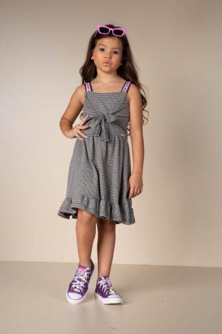 Vestido Estiloso Infantil Menina - Preto - 10