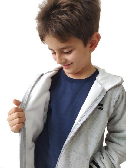 Jaqueta Infantil em Moletom com Forro Peluciado Menino