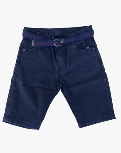Bermuda Infantil Jeans Casual - Azul-marinho - 8