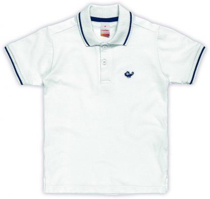 Camisa Polo Infantil Menino - Branco - 16