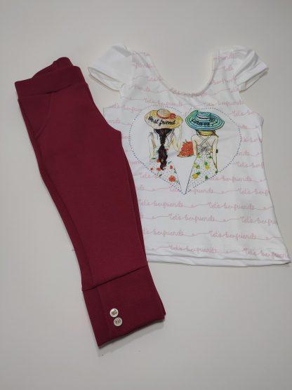 Conjunto Infantil Blusa e Legging Corsário