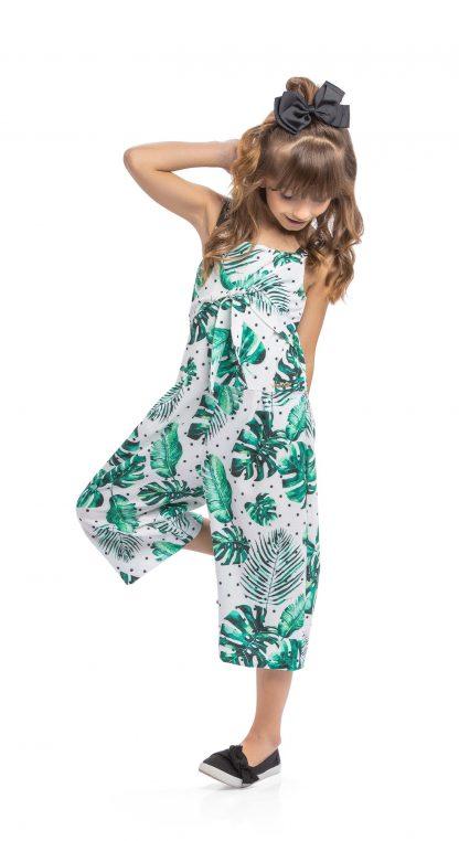 Macacão Pantacourt Menina - Verde - 10