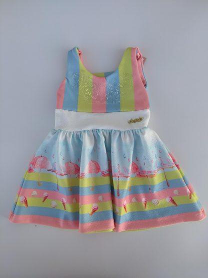 Vestido Bebê Menina - Azul - G